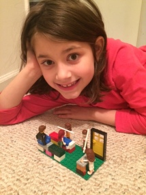 Molly's Lego creation