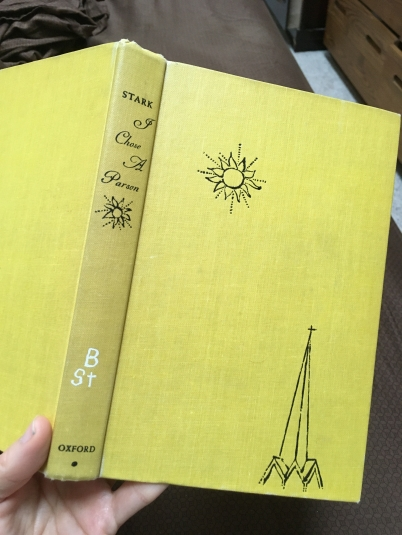 vintage yellow hardback book cover of I Chose a Parson